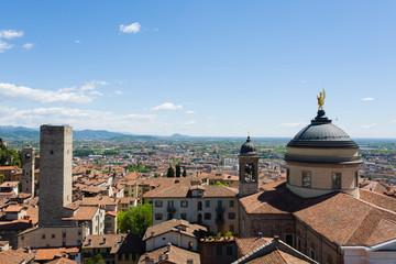 """Italian panorama, upper city of """"Bergamo"""""""