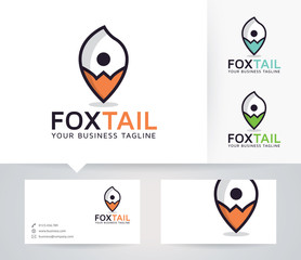 Foxtail Point vector logo with business card template