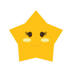 star  design. cartoon icon. isolated image. vector graphic