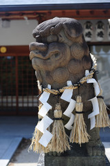 Komainu at Ikota-jinja-2