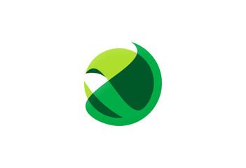 round 3D organic technology logo