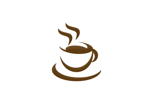 coffee cup cafe drink logo