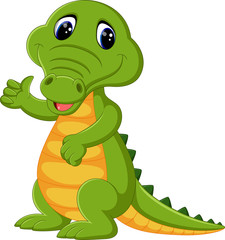 cute crocodile cartoon