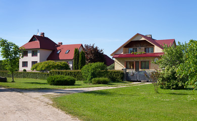 Fasade of detached house.