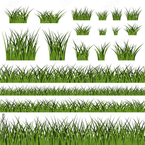 Green grass silhouette