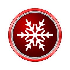 Snowflake icon, Internet button on white background