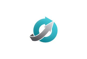 round arrow technology logo
