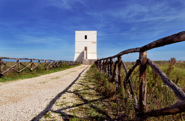 Little tower in Margherita of Savoy