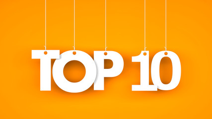 Top 10 - word hanging on the ropes