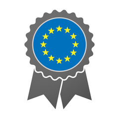 Isolated award badge with  the EU flag stars