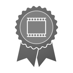 Isolated award badge with   a photographic 35mm film strip