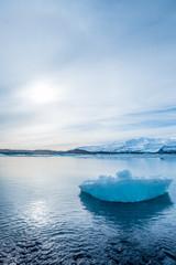 blue sky background at glacier