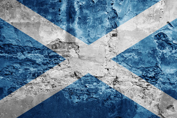 Scottish flag grunge texture