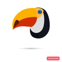 Toucan color flat icon