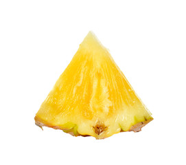 Slice of pineapple isolated