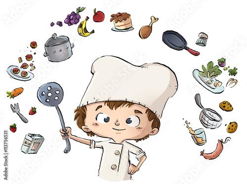 Niño Cocinero Cocinando Stock Photo And Royalty Free Images On