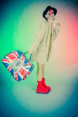 Femme et sac Anglais