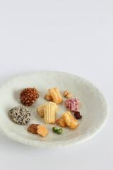 "Japanese traditional snack ""Arare senbei (Assorted Rice cracker)"""