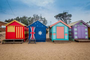 Brighton beach bathing boxes, Melbourne. Brighton beach.