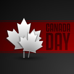 Happy Canada Day card in vector format