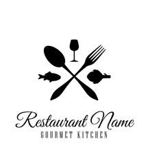 logo, restaurant, identité, enseigne, marque