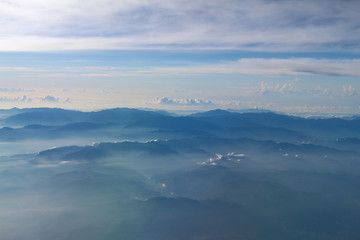 Arial view of Mount from airplane