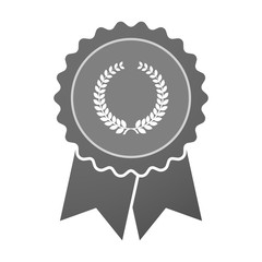 Isolated award badge with  a laurel crown sign