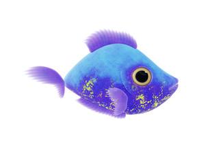 purple blue fish
