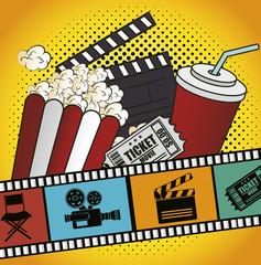 cinema entertainment design, vector illustration eps10 graphic
