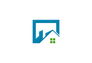 home roof icon square logo