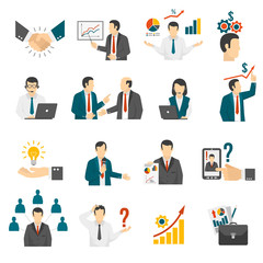 .Business Training  Consulting Service Icons Set.