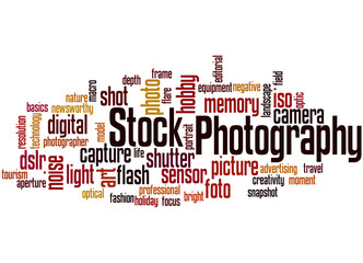 Stock Photography, word cloud concept 5