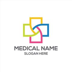 Hospital and Health Care Logo Vector