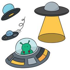 vector set of ufo