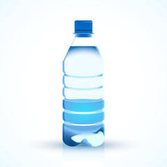 Bottle of water illustration