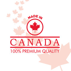 Canadas County design. Maple leaf icon. Made in illustration