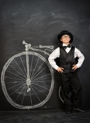 drawn bicycle