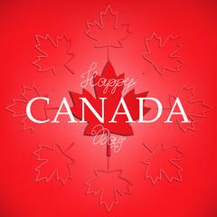 Happy Canada Day card. Vector illustration