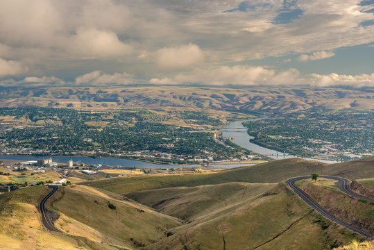 Overhead view of Lewiston Idaho with rovers
