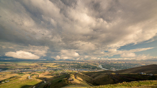 Lewistown Idaho and rivers from above