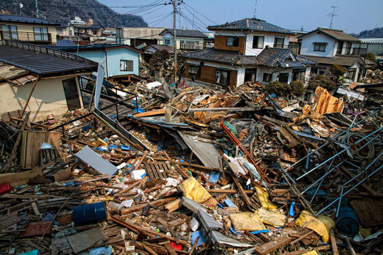 The consequences of the devastating tsunami.