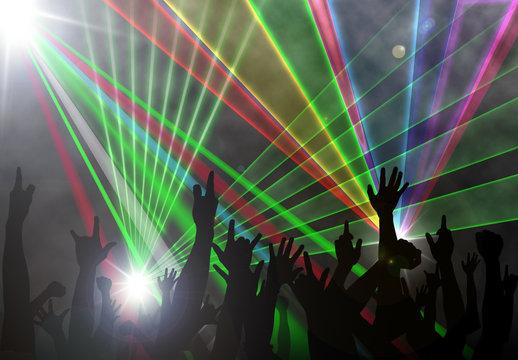Music concert laser beam lighting