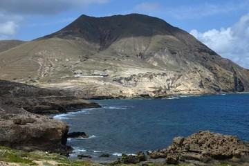 Rocky coast of the island of Porto Santo.