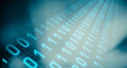 Modern computer binary code data background