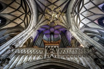 Orgel im Stephansdom in Wien