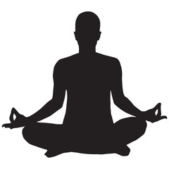 Person Meditating Icon yoga