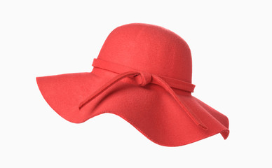 Red woman hat isolated