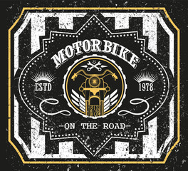 Motorbike vintage racing typography, t-shirt graphics, vector illustration