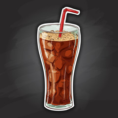 Cola soda drink picture sticker