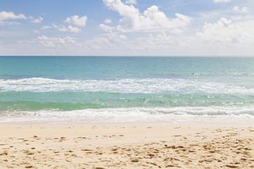 beach and tropical sea,selective focus on beach ,beautiful scene